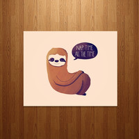 Sloth Nap Time Art Print