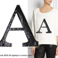 Iron On Letter A Patch Applique for DIY Crafts and Home Decor