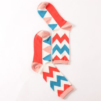 Chevron Cotton Crew Socks