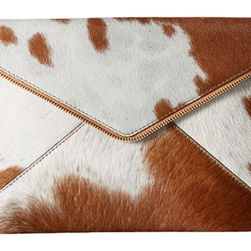 Rebecca Minkoff Haircalf Leo Clutch Haircalf/Sand - Zappos.com Free Shipping BOTH Ways