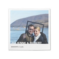 Only You | Modern Photo Wedding Paper Napkins