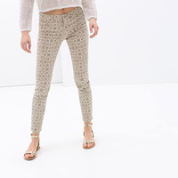 5 POCKET PRINTED TROUSERS