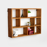 Home Wooden Storage Living Room Decoration Rack [6282624070]