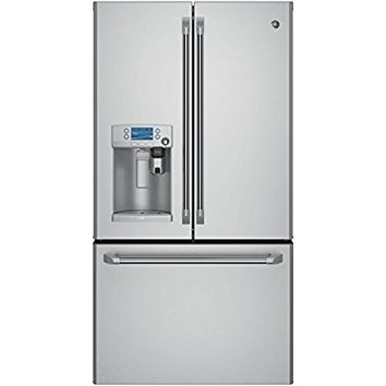"GE Cafe CFE28USHSS 36"" French Door Refrigerator with 27.8 cu. ft. Capacity"
