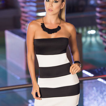 Striped Seduction Tube Dress