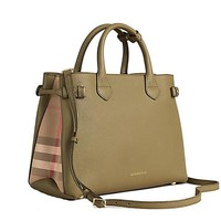 DCCKUG3 Tote Bag Handbag Burberry Medium Banner in Leather and House Check PALE PISTACHIO GREEN Item 39970611