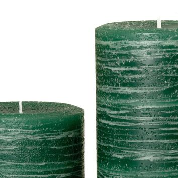 Green Pillar Candle | Hunter Rustic