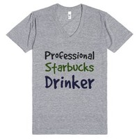 Starbucks Drinker-Unisex Athletic Grey T-Shirt