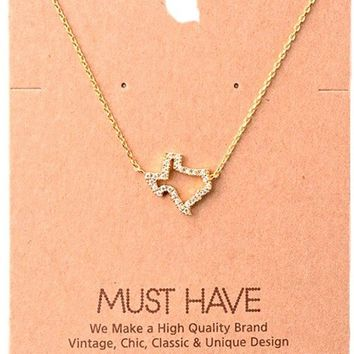 Must Have-Dallas Necklace,  Gold