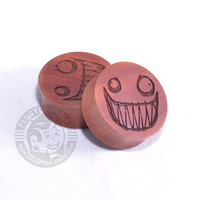 Peepers - Crazy Smile - Choonimals - Engraved Wood Plugs