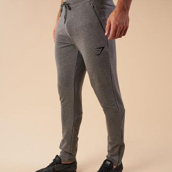 Gymshark Fit Tapered Bottoms - Charcoal Marl