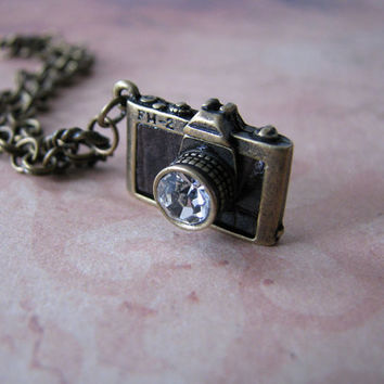 Camera Doll Necklace for Blythe, Pullip, Dal, Monster High, BJD etc.