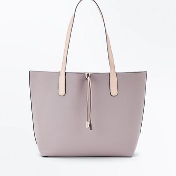 Mink Reversible Tie Front Tote Bag | New Look