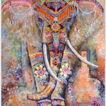 ESBU3C 5 Color Indian Elephant Tapestry 130cmx150cm / 150cmx210cm Decorative Mandala Tapestry Boho Wall Carpet Travel blanket