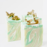 Gold Farm Animals Mini Soap Bar - Cucumber Mint