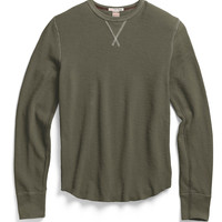 Slub Cotton Thermal in Olive