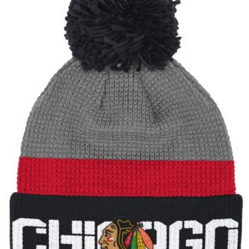 Chicago Blackhawks Reebok Center Ice Cuffed Pom Knit Hat