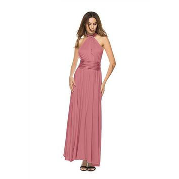 Women's Convertible Multi Way Backless Bodycon Long Wrap Maxi Dress