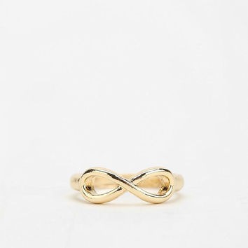 Set of 2, Dainty gold infinity above the knuckle midi rings; delicate and modern; chic finger ring; stacking rings - FREE US shipping