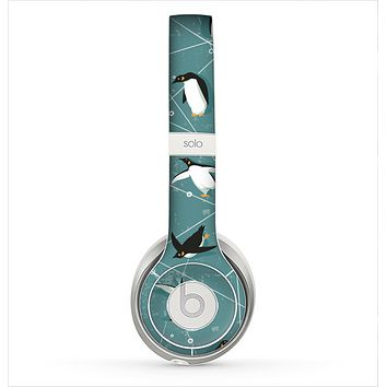 The Vintage Penguin Blue Collage Skin for the Beats by Dre Solo 2 Headphones