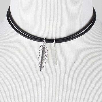 Black Leaf Choker