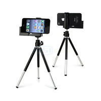 Rotatable Tripod Stand Camera Holder For Apple iPhone SE 5S 5C 6 6S Smartphones