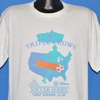 80s Nike Triple Crown Soccer t-shirt Large