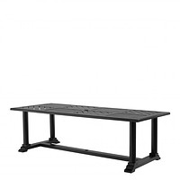 Black Lacquer Dining Table | Eichholtz Bell Rive