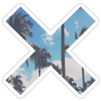 THE XX LOGO-PALM TREES