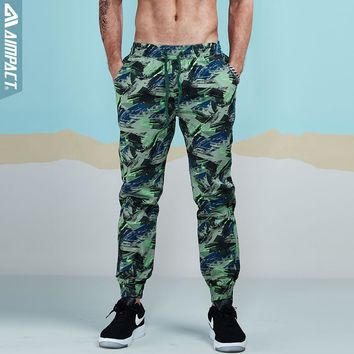 Aimpact 2017 Men Casual Pants Fashion Camo Jogger Pant Man Cotton Fitted Trace Twill Pant Male Straight Tapered Trousers AM5011