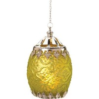 "Tunis Lantern Candle Holder 6"" - Green"