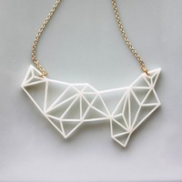 Geometric Prism Necklace by iluxo on Etsy
