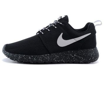 Nike Roshe run couple light sports leisure net surface breathable Olympic  running shoes Black starry sky 6c653b2b4
