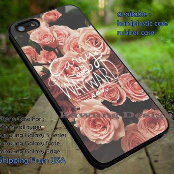 Tv Series Carry on My Wayward Son Quote Vintage Flower iPhone 6s 6 6s+ 5c 5s Cases Samsung Galaxy s5 s6 Edge+ NOTE 5 4 3 #music #kss dt