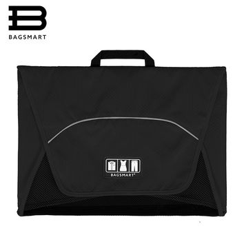 "BAGSMART 17"" Garment Folder Anti-wrinkle 1-5pcs T Shirts Ties Packing Organizer Bags Travel Bag To Pack Tavel Luggage Suitcase"