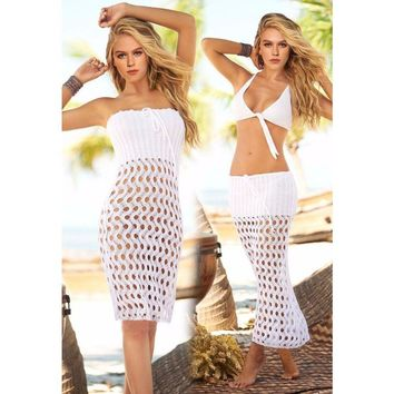 Wave Knit Cover Up