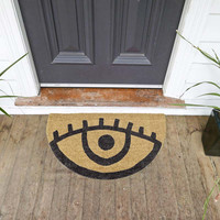 Down To The Woods | Eye Door Mat Black