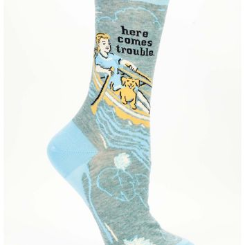 Here Comes Trouble Women's Crew Socks