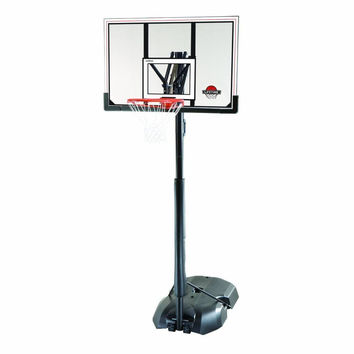 """Spalding NBA 54"""" Polycarbonate Portable Adjustable Height Basketball System, with Backboard"""