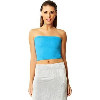 Sea Breeze Blue Tube Top