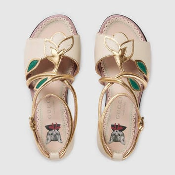 Gucci Children's leather flower sandal