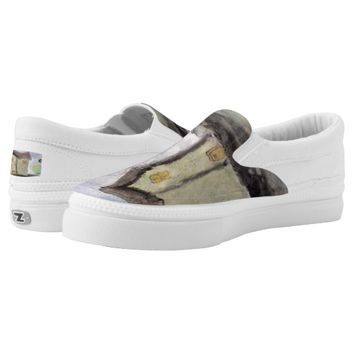 House with trees Slip-On sneakers