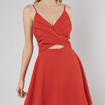 Red Hot Cut Out Dress