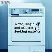 Laundry room decals White Single Athletic SEEKING by decalsmurals