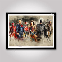 Justice League of America poster Instant Download JLA print Digital poster Justice Leage Digital print Superhero poster Superhero team