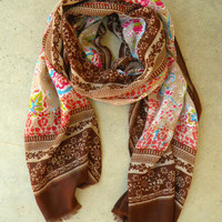 Enchanted Bohemian Scarf [3256] - $18.00 : Vintage Inspired Clothing & Affordable Fall Frocks, deloom | Modern. Vintage. Crafted.