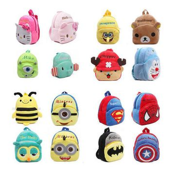 ICIK272 mochila Children's gifts kindergarten boy backpack Plush baby children school bags design kid girls lovely K T plush toy bags
