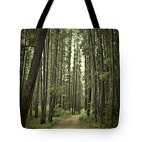 """Path in the woods Tote Bag for Sale by Ivy Ho (18"""" x 18"""")"""
