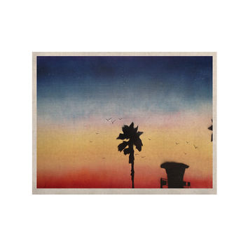 "Infinite Spray Art ""Carlsbad Sunset"" Coastal Painting KESS Naturals Canvas (Frame not Included)"