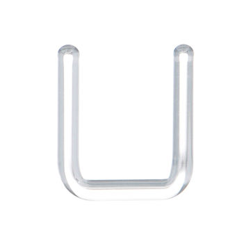 Septum Retainer 14 Gauge Clear Borosilicate Glass